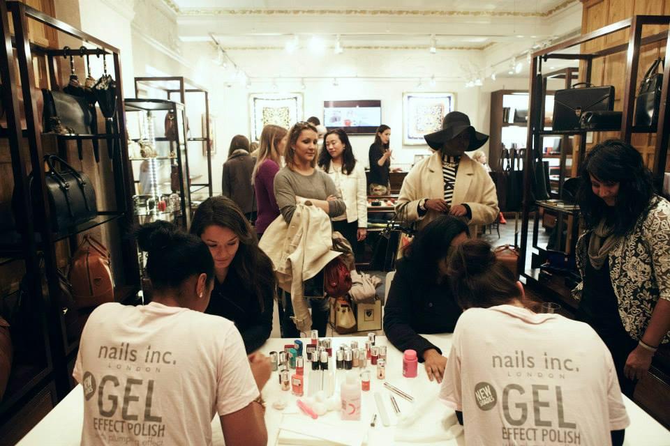 London Fashion Week - Aspinal of London event, Nails inc manicures, fashion week