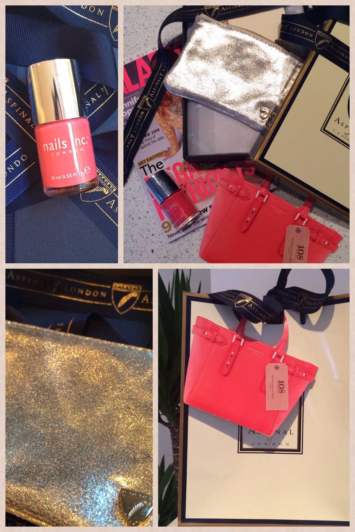 London Fashion Week goodie bags - Aspinal of London goodie bag, Nails inc brook street nail polish