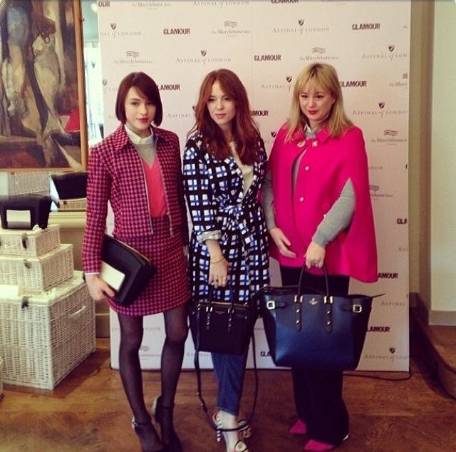 London Fashion Week - La Petite Anglaise - Ella Catliff, Angela Scanlon, Claudia Mahoney