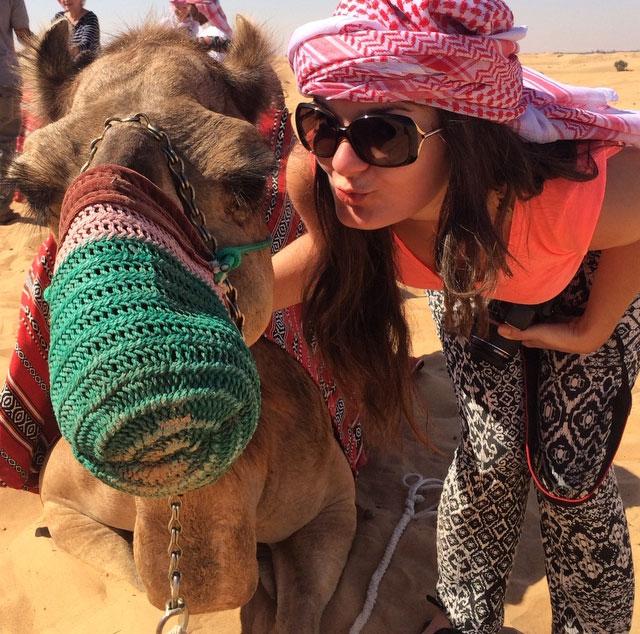 Platinum Heritage - Desert Safari Dubai - Breakfast with a Bedouin - Camel Selfie