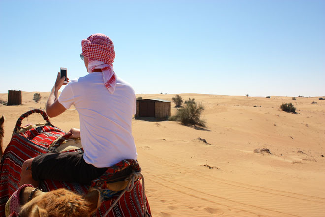 Platinum Heritage - Desert Safari Dubai - Breakfast with a Bedouin - Camel with Satnav