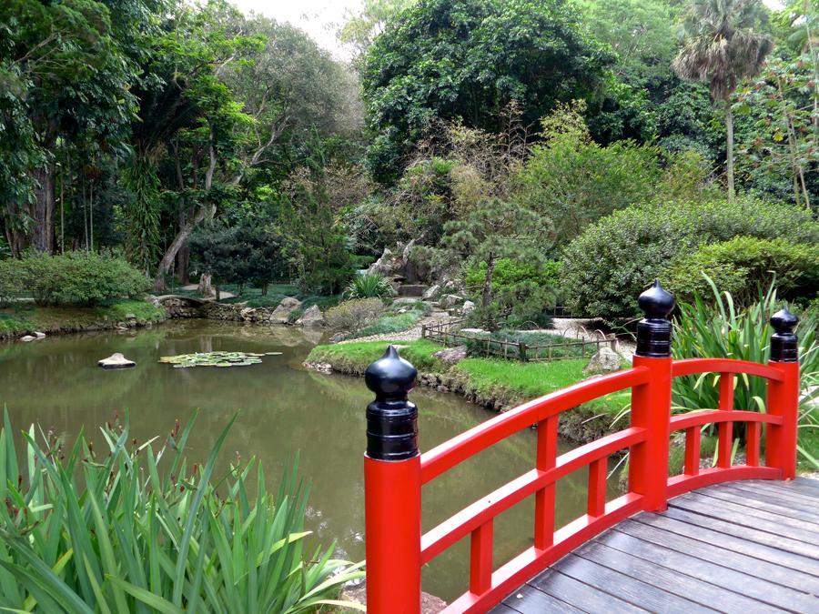Botanical Garden Rio de Janeiro - Jardim Botanico do RIo de Janeiro - Japanese Garden Bridge