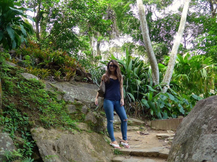 Botanical Garden Rio de Janeiro - Jardim Botanico do RIo de Janeiro - entrance to atlantic forest