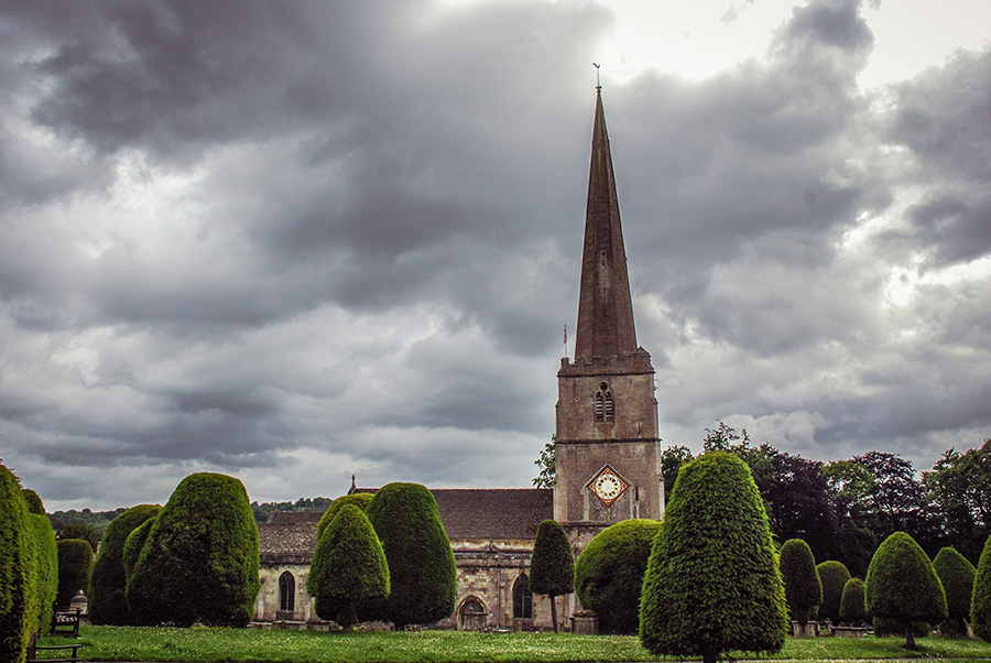 Cotswolds - Painswick - St Marys Church - Yew trees