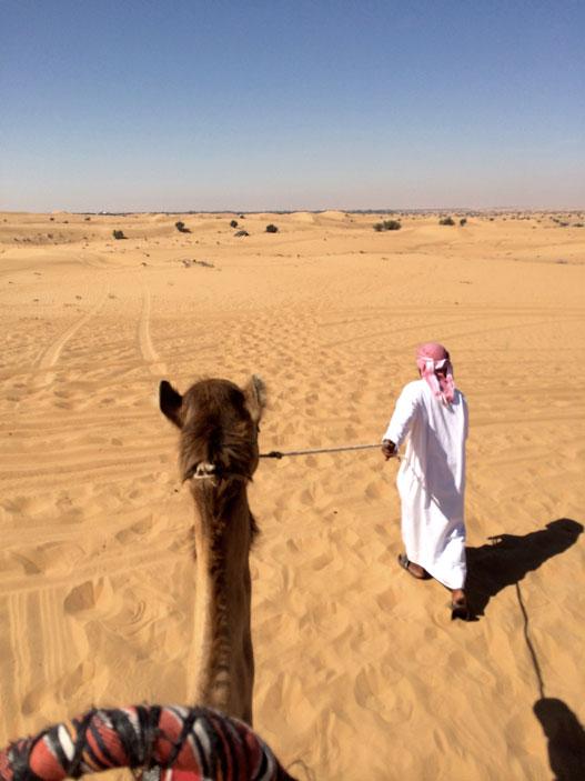 Platinum Heritage - Desert Safari Dubai - Breakfast with a Bedouin - Follow me - Riding Camel in the desert
