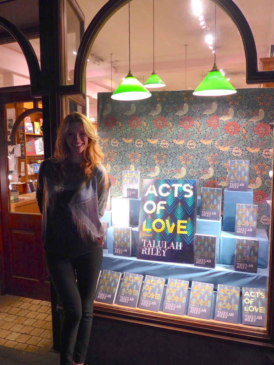 Talulah Riley Acts of Love window display at Daunt Books