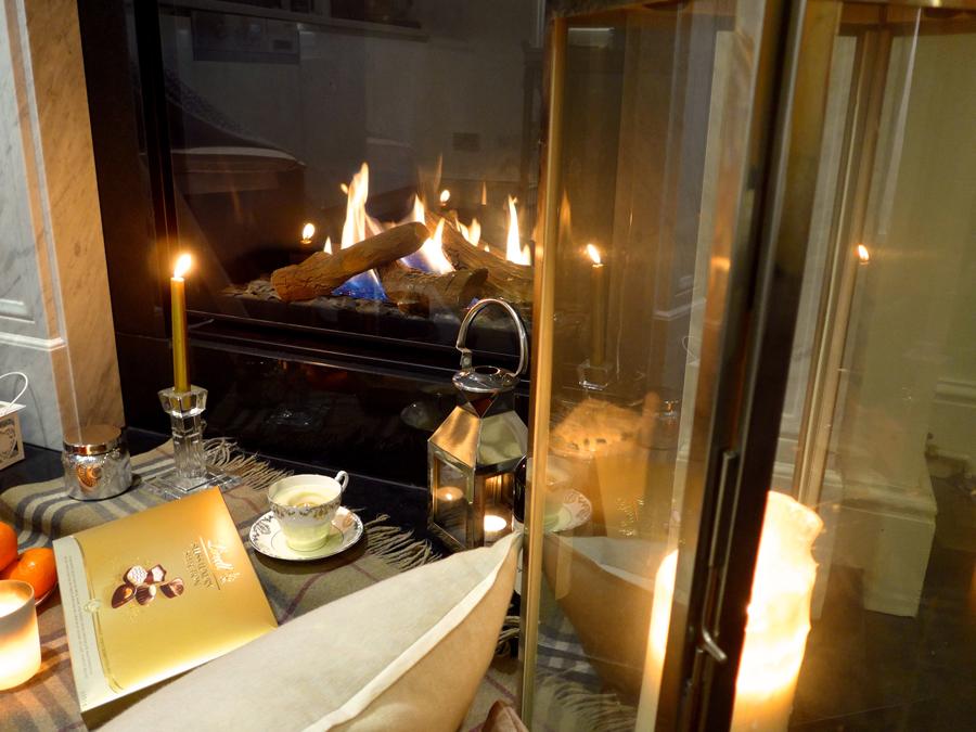 Hygge---fireplace-chocolates-candles-lanterns
