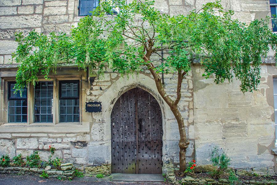 Cotswolds - Painswick - Tree doorway
