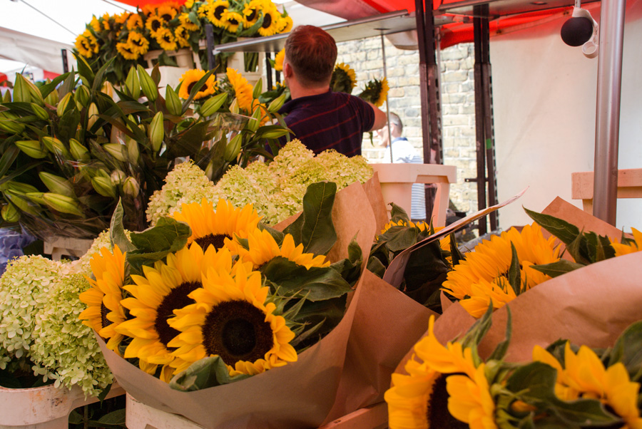 Columbia Road Flower Market Sunflowers - August
