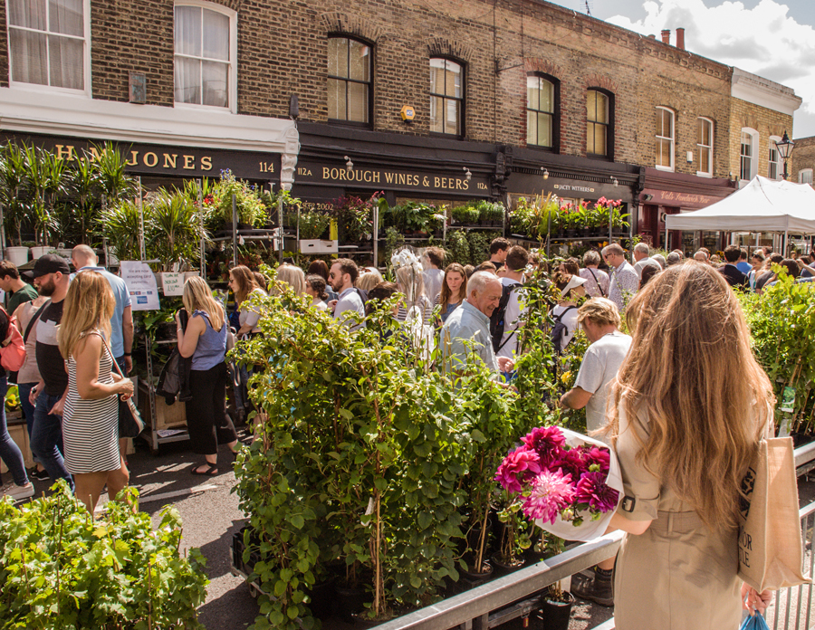Visiting Columbia Road Flower Market