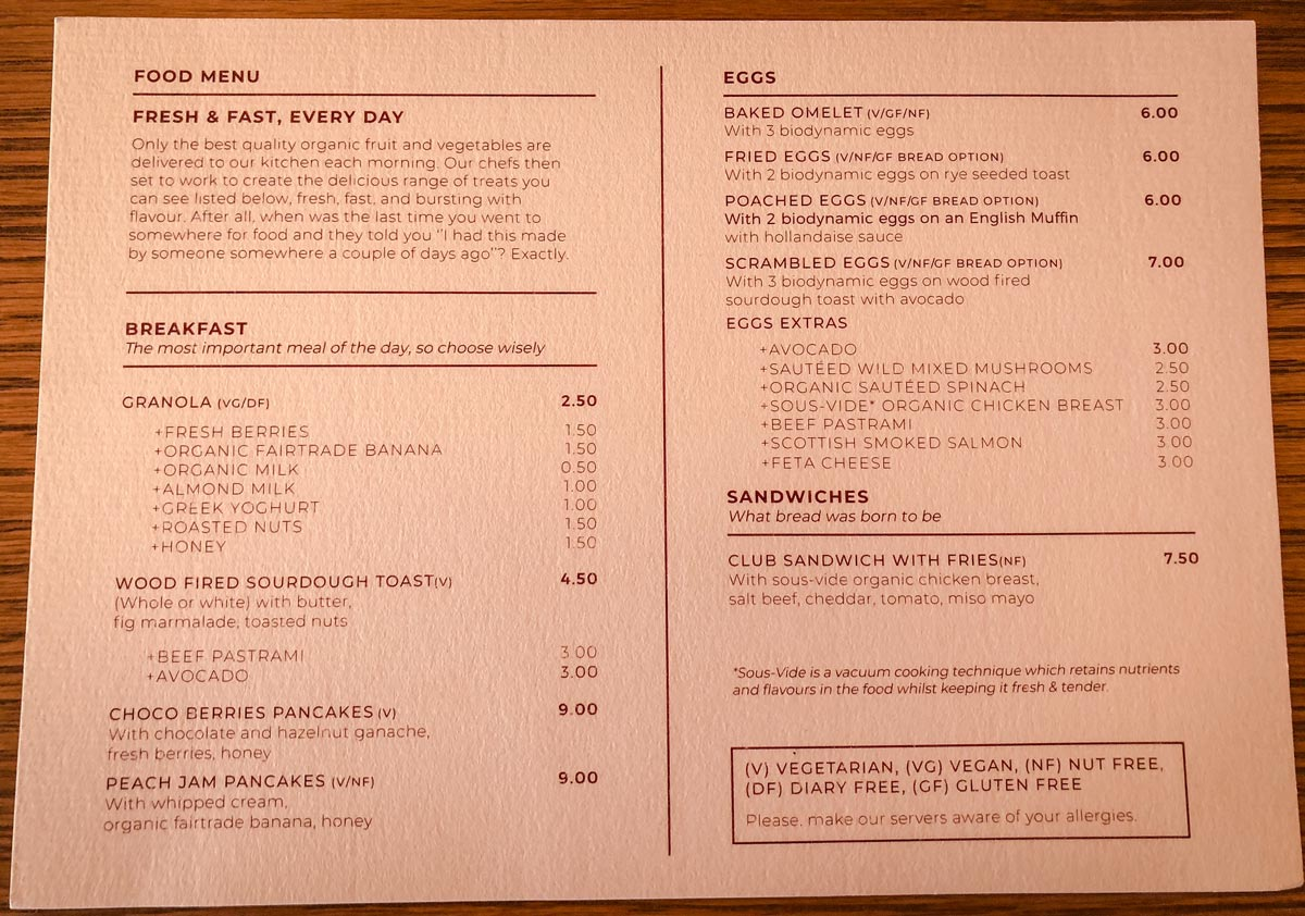 39 Steps Coffee Haus Menu