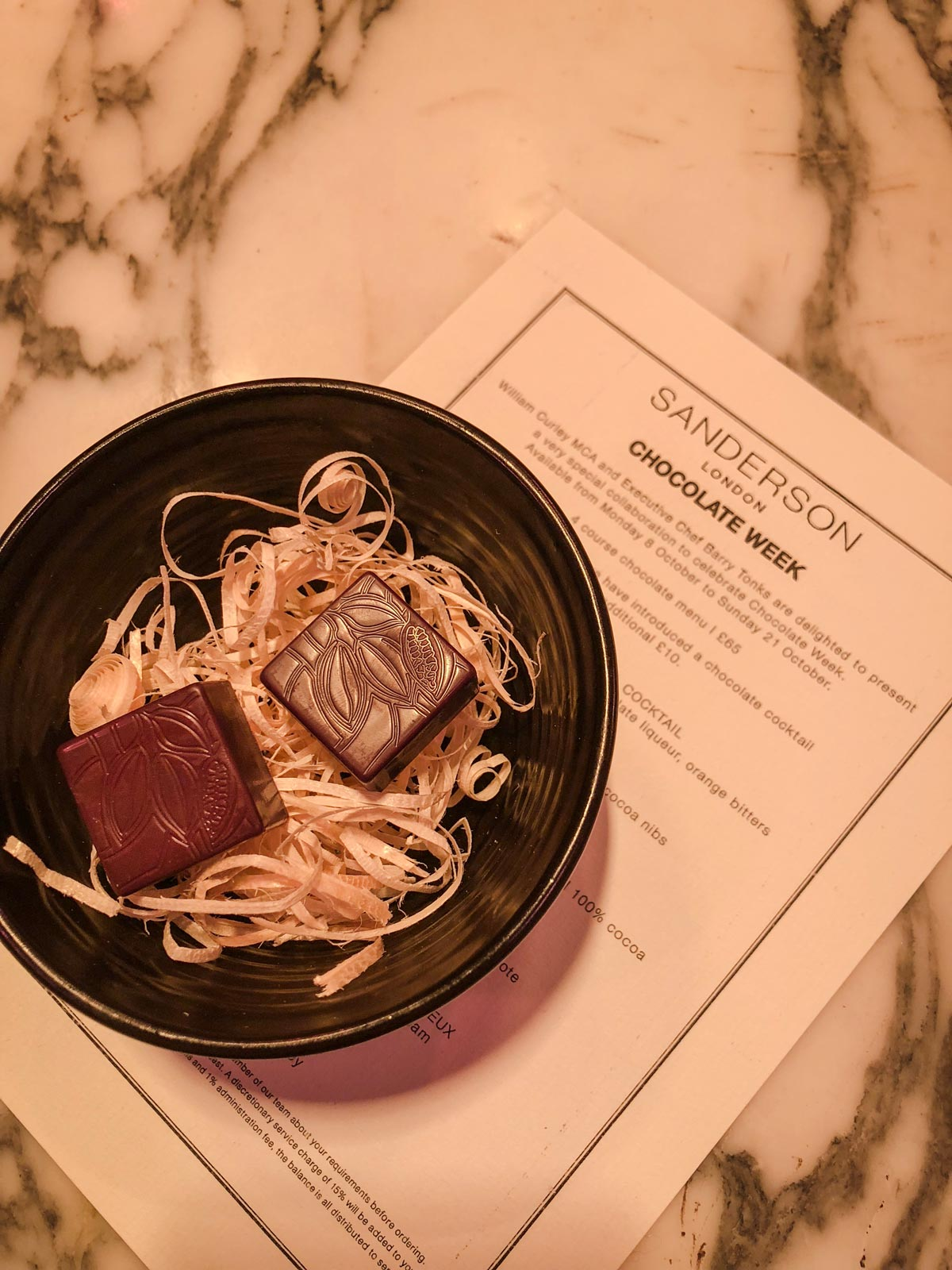 National Chocolate Week - The Restaurant at Sanderson Hotel - Chocolates by William Curley