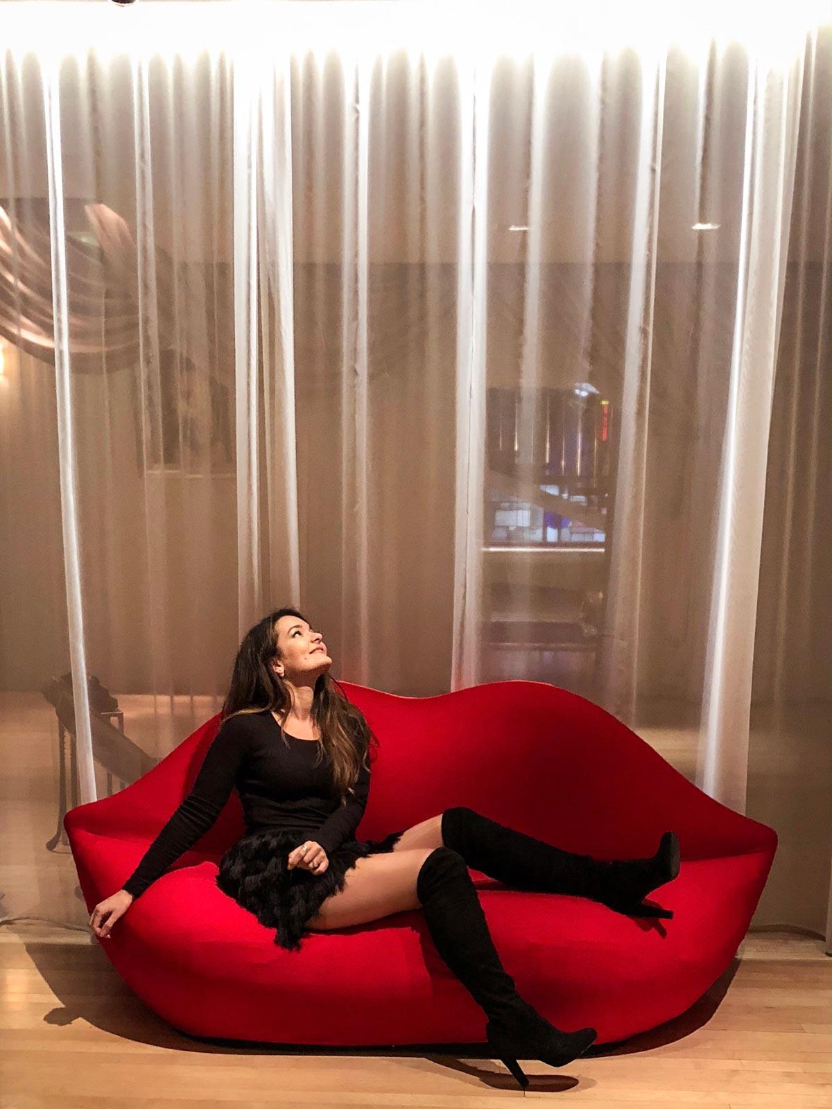 Sanderson Hotel London - Phillipe Starck Red Lips