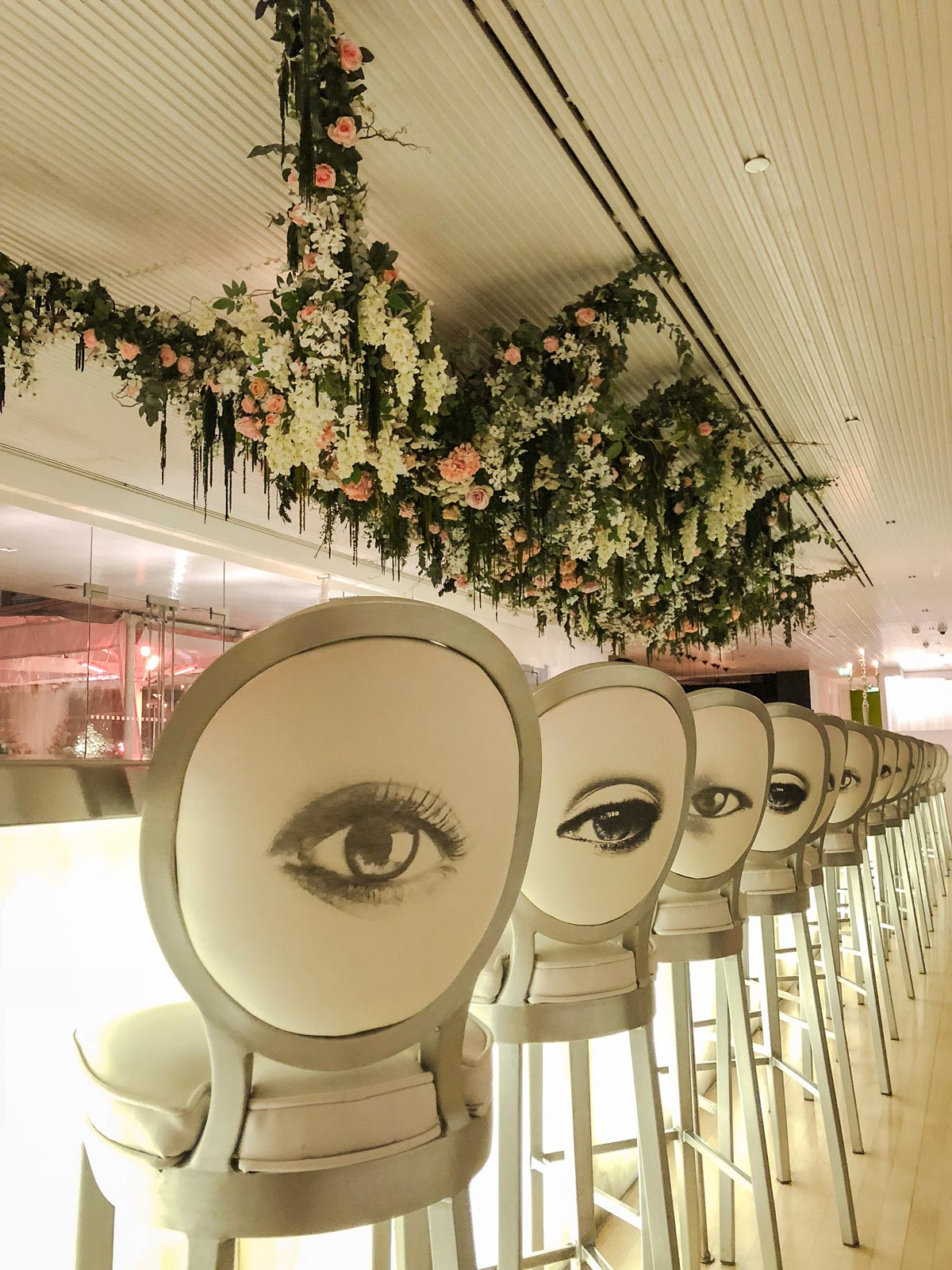 Sanderson Hotel Long Bar - Phillipe Starck hotels - beautiful bar stools