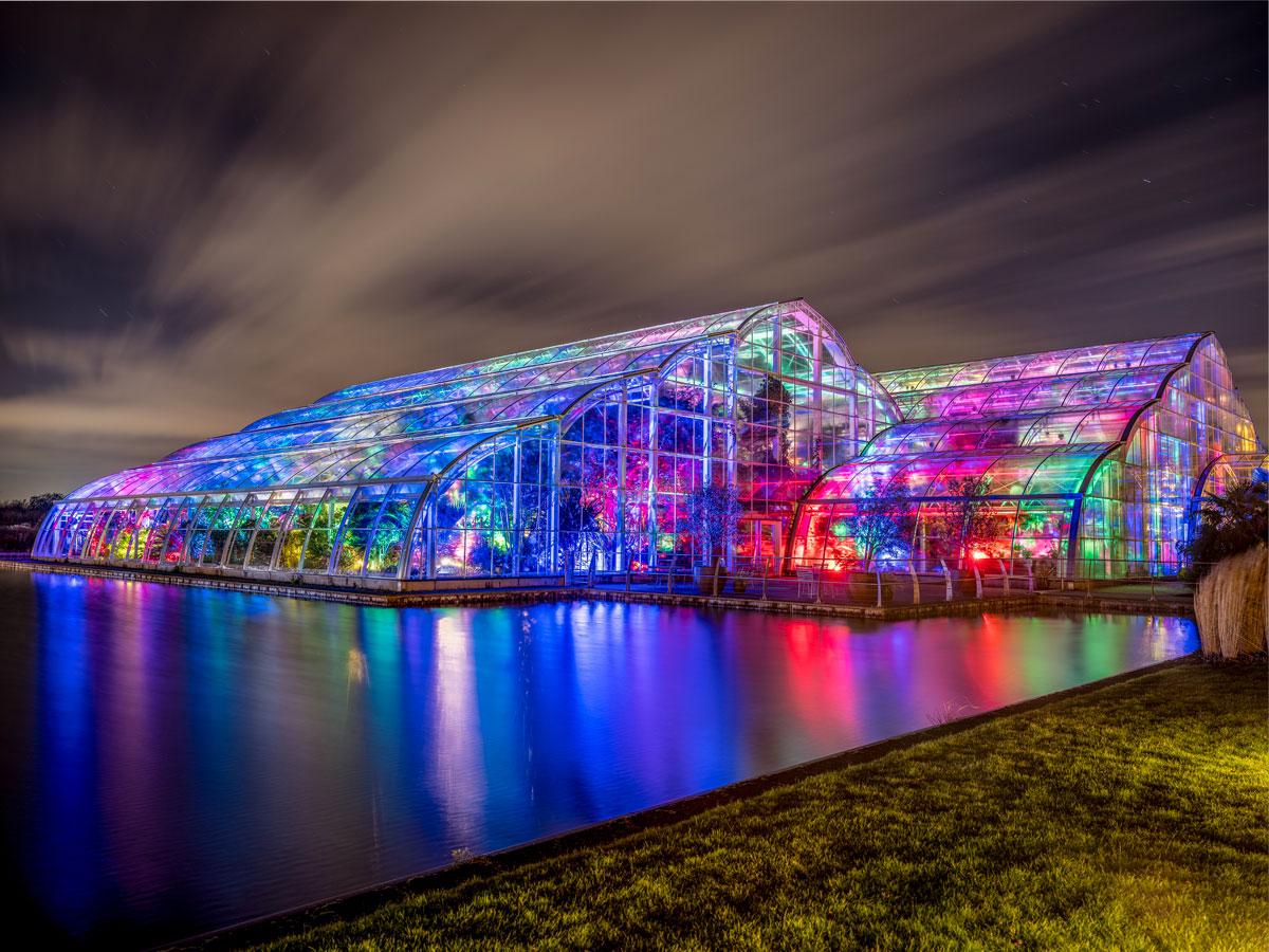 RHS Wisley Glasshouse Glow 2018